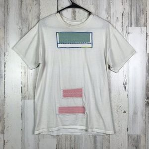 Hanes | Patch Embroidered Tee Shirt Size Medium